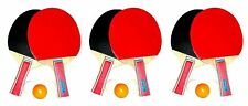 6x Tennis De Table Raquette + 9 Balles Sport
