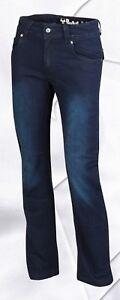 Bull-It SR6 Italien Coffre Coupe Femmes Bleu Covec Aramide Moto Jeans - Solde