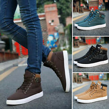 AU Men's High Top Casual Oxfords Running Suede Shoes Canvas Boots Winter  * *