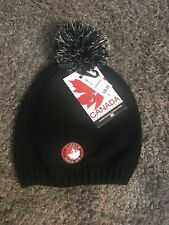 Canada Weather Gear Black Knit Beanie Winter Hat Pom Pom Top Snow