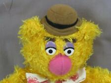JIM HENSON MUPPETS FOZZIE ORANGE TEDDY BEAR BOW BROWN PLUSH STUFFED ANIMAL SOFT