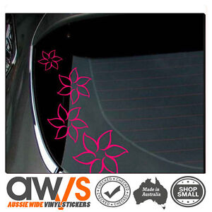 Girls Sticker Car Flowers Floral Flower Decal Girl Cute Window Wall