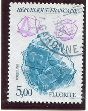 STAMP / TIMBRE FRANCE OBLITERE N° 2432 MINERAUX FLUORITE