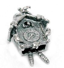 Vintage Movimiento Reloj cucú de plata encanto