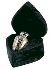 """Urn Cremation Brass Silver Gold 3"""" Height Keepsake UrnConcern Free Velvet Box"""