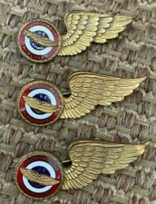 Northwest Airlines Stewardess Wing Pins - Set of Three (3)