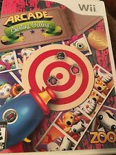 Arcade Shooting Gallery (Nintendo Wii, 2009) w Case and Manual FAST SHIPPING