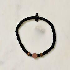 Komboskini Chotki Handmade  Wooden Bead Cross Greek Orthodox Christian  Bracelet