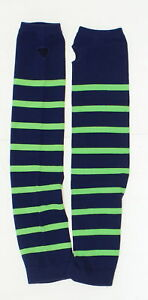 NEW Sport Tek LOT OF 2 Striped Arm Socks Blue / Green One Size 04053