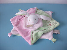 16.4.24.1 Peluche doudou plat lapin rose vert Baby nat' plush Babynat