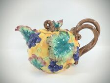 Fitz and Floyd Hand Painted Pumpkin & Fruit Large Teapot 40 oz 1993