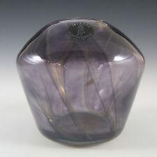 Mtarfa Maltese Organic Purple Striped Glass Vase - Label