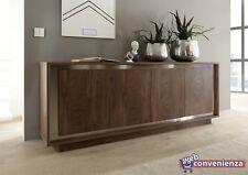 Sky Madia 4 Ante Cognac credenza moderna legno mobile contenitivo