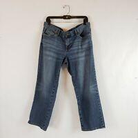 Eddie Bauer Womens Jeans Boyfriend Relaxed Med Wash Leg Shape Denim Size 12