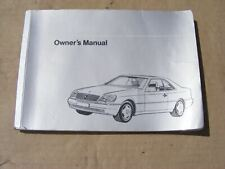 Mercedes 1405841697 Owner's Manual Handbook   W140 C140 Coupe