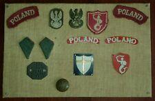 WW2 Polish 2nd Corps Badges