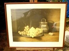 ANCIENNE LITHOGRAPHIE SIGNEE JEAN CLAUDE CHAURAY HC  DEDICACE NATURE MORTE