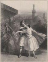 Adolphe Mouilleron Segun Turquía Teatro Ópera Romantismo Litografía Original XIX