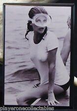 "Jacqueline Bisset B & W Movie Photo  2"" X 3"" Fridge / Locker Magnet. The Deep"