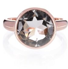 Rose Gold Plate/Silver Ring Size N.5 Unusual Green Amethyst Gift Packaged