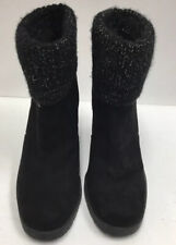 CIRCUS by Sam Edelman Women's Black Suede Slip On Ankle Booties US Size 8