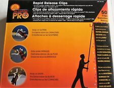 NO LADDER PRO  Rapid Release Clips Use on Gutters,Shingles,Eaves  50 Count