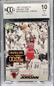 "Michael Jordan 1997 Upper Deck #CT5 ""Nestle Crunch Time"" - BCCG 10"