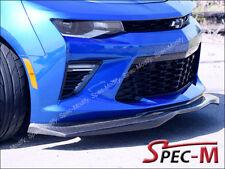 16-18 Camaro SS V8 Carbon Fiber Front Bumper Extend Lip JPM R1 CF