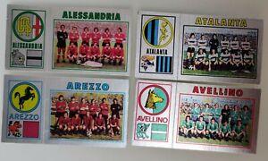 Set 4 Figurina Sticker Album Calciatori Panini 1974 75 Badge scudetto SERIE B