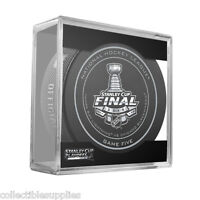 New 2015 NHL Stanley Cup Blackhawks Lightning Sherwood Official Game Puck 5 Five