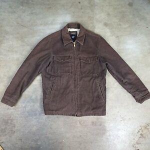 Vintage 90s the gap Medium Corduroy Jacket cornflower blue Snap Down Mock Neck Blazer M Med Nineties Jean Jackets cord coat