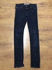 """Topman Mens Spay On Skinny Mid Blue Denim Jeans Waist 28"""" Inside Leg 30"""""""