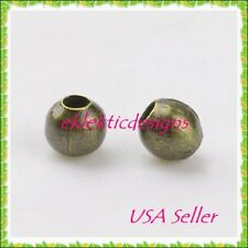3mm 400 pc Antique Brass Bronze Metal Spacer Beads Jewelry Findings Necklace
