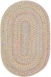 Playtime Soft Textured Polypropylene Kids Playroom Braided Rug Sand Beige PT03