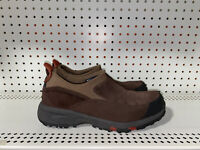L.L. Bean Mens Leather Athletic Insulated Slip On Hiking Shoes Size 9.5 Brown