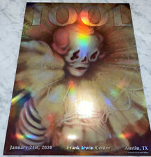 Tool Poster Austin Frank Erwin 2020 concert tour limited edition holographic