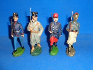Elastolin & Stabil 10cm Four Marching Soldiers Lineol