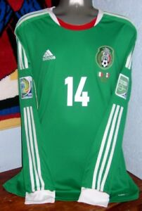 ADIDAS MEXICO CONFEDERATIONS LS 2013 CHICHARITO XL ORIGINAL SOCCER JERSEY SHIRT