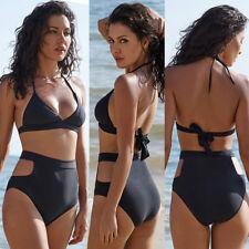 Women Floral High Waisted Bikini Set Swimsuit Padded Swimwear Bathing Beachwear