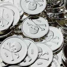 Skull and Bones / 30 X 1 Gram .999 Fine Silver Round Bullion  Mini coin oz RE314