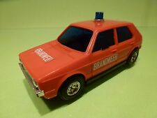 LUCKY 3190  PLASTIC VW VOLKSWAGEN GOLF 1 - FIRE BRANDWEER RED - GOOD - VINTAGE