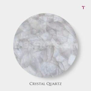 Crystal Quartz Table Top Kitchen Counter Top Semi Precious Quartz Stone Surface
