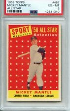 Win A 1958 Topps Mickey Mantle #487 PSA 6! Choose A Number!!!