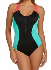Magicsuit by Miraclesuit Dive In Nikki 1-Pc Zippered Swimsuit Sz 16W NWT