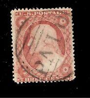 US 1857  Sc# 26A Washington  USED - Type IV - Paid Cancel  - Centered