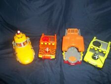 Fisher Price Safari Rescue Boat, Jeeps & Yellow Submarine by Imaginext- Bin P