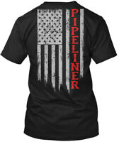 Pipeliner Us Flag - Hanes Tagless Tee T-Shirt