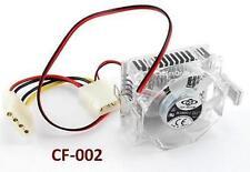 586 Pentium CPU Crystal Cooler 53x53x25.3mm Fan w/ Heat Sink Socket, CF-002