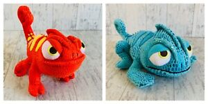 Disney Store Tangled Pascal Plush Red and Blue Set Of Two
