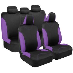 UltraSleek Purple Black Car Seat Covers - Universal Fit for Car Truck Van SUV